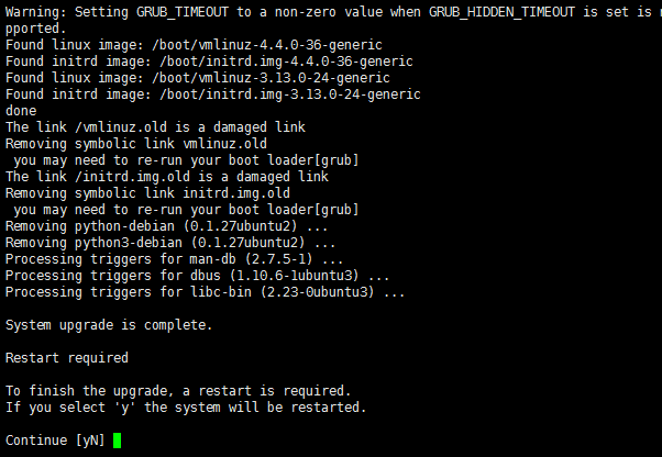 Ubuntu 14.04 升级到 Ubuntu 16.04 LTS