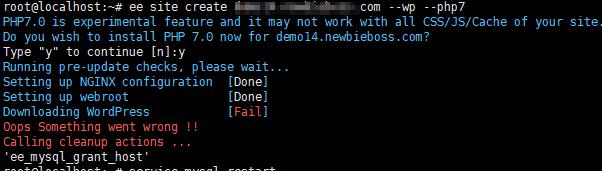 EasyEngine error
