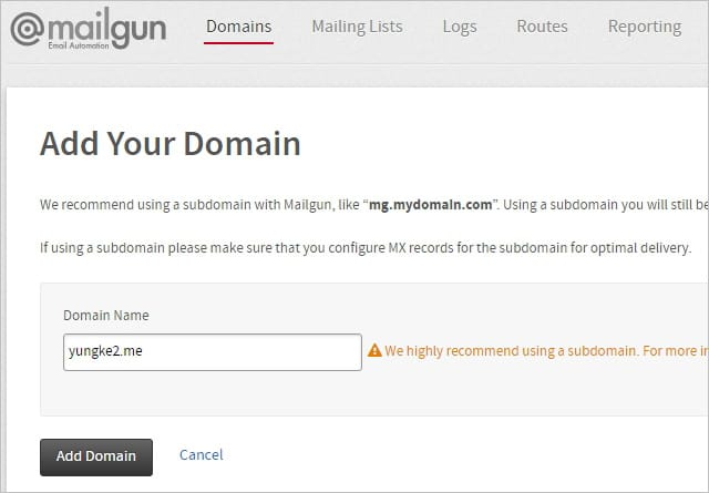 Add Your Domain