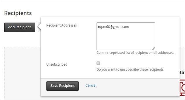 Recipients gmail