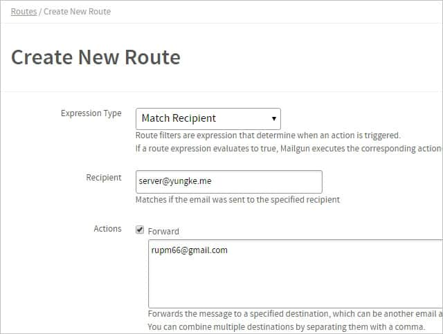 Create New Route
