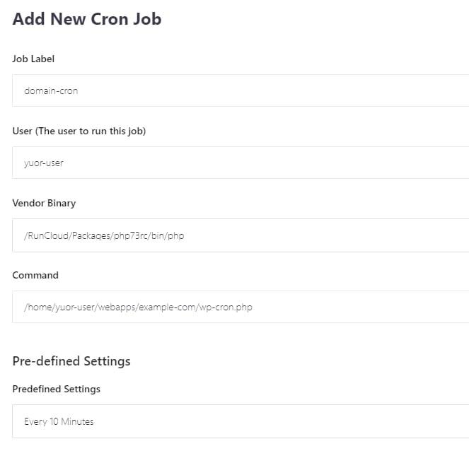 RunCloud 運行 WordPress Cron Job